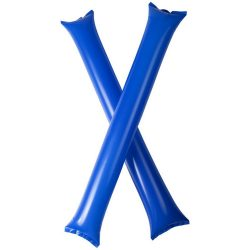 Cheer 2-piece inflatable cheering sticks, Polyethene, Royal blue