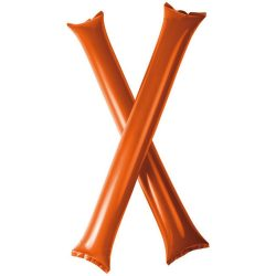 Cheer 2-piece inflatable cheering sticks, Polyethene, Orange