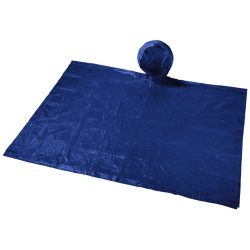 Paulus foldable poncho in pouch, PVC Plastic, Navy
