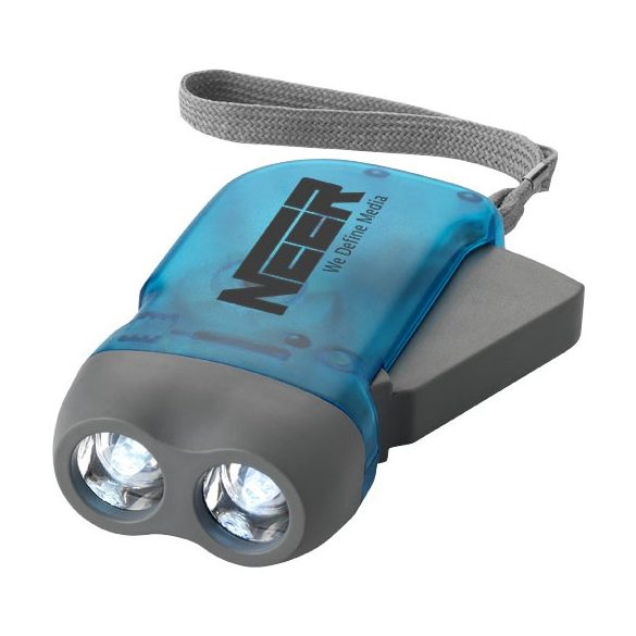 Virgo dual LED torch light with arm strap, ABS plastic, Blue