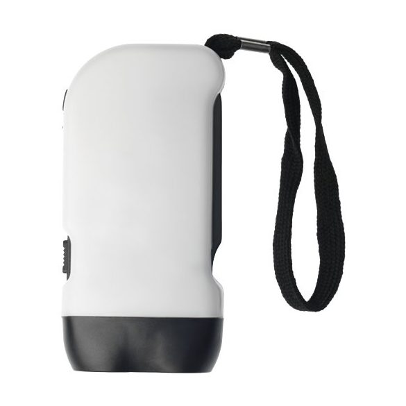 Virgo dual LED torch light with arm strap, ABS plastic, White, solid black