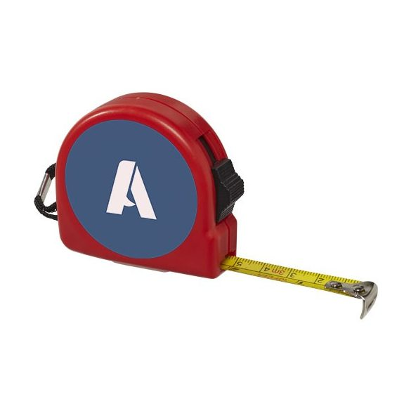 Clark 3 metre measuring tape, ABS plastic, Red