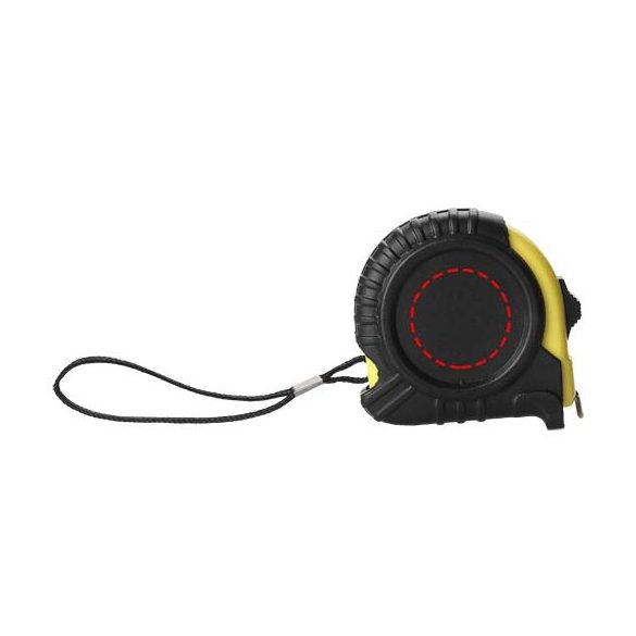 Cliff 3 metre measuring tape, ABS plastic, solid black,Yellow