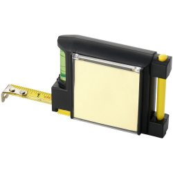 Dunk 2 metre measuring tape with level, Plastic, solid black,Yellow