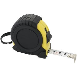 Evan 5 metre measuring tape, Plastic, solid black,Yellow