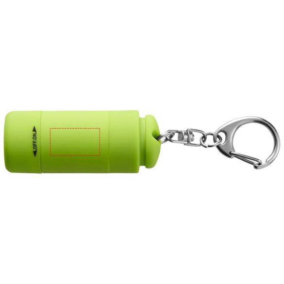 Breloc lanterna cu reincarcare usb, Everestus, KR0073, abs, plastic, verde, laveta inclusa