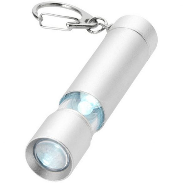 Breloc lanterna cu led alb, Everestus, KR0582, aluminiu, gri, laveta inclusa