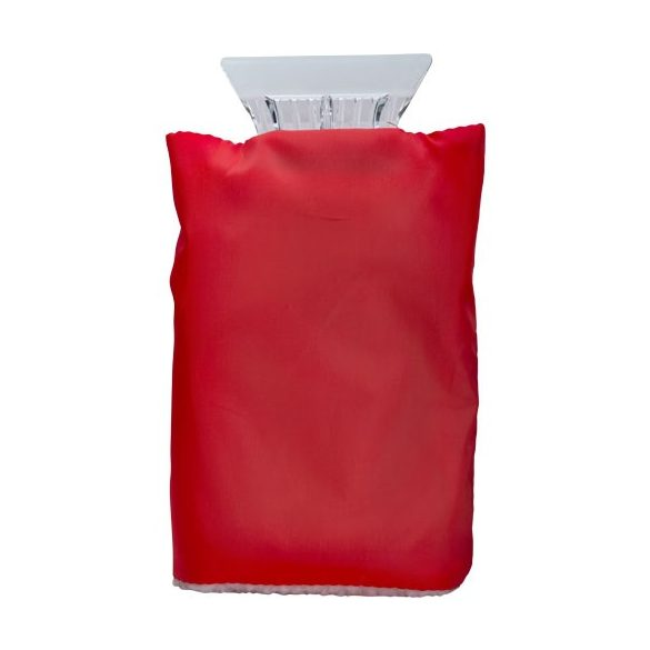 Colt ice scraper with glove, Polyester and plastic, Red