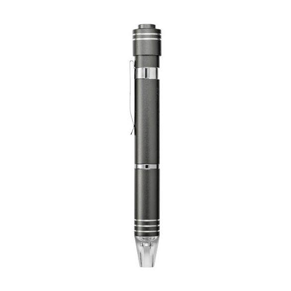 Duke 7-function screwdriver set, Aluminium, Grey