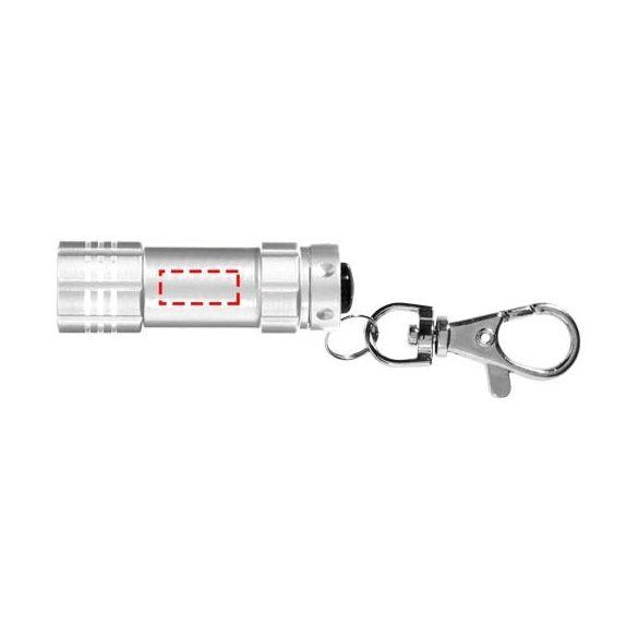 Breloc lanterna, Everestus, KR0069, aluminiu, gri