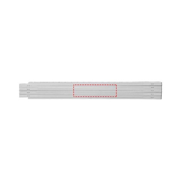 Monty 2 metre foldable ruler, ABS plastic, White