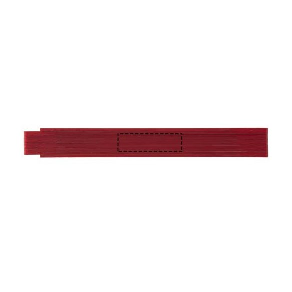 Monty 2 metre foldable ruler, ABS plastic, Red