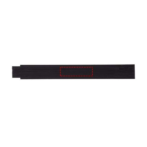 Monty 2 metre foldable ruler, ABS plastic, solid black