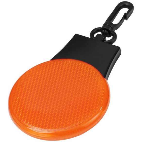 Blinki reflector LED light, ABS plastic with PS plastic reflector, Orange