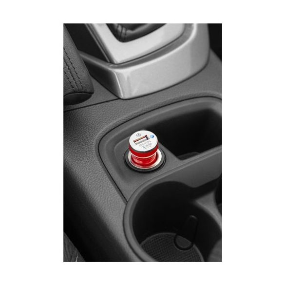 Casco car adapter, ABS plastic, Red