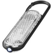 Ceres LED reflector light with carabiner, PP and PS plastic, White