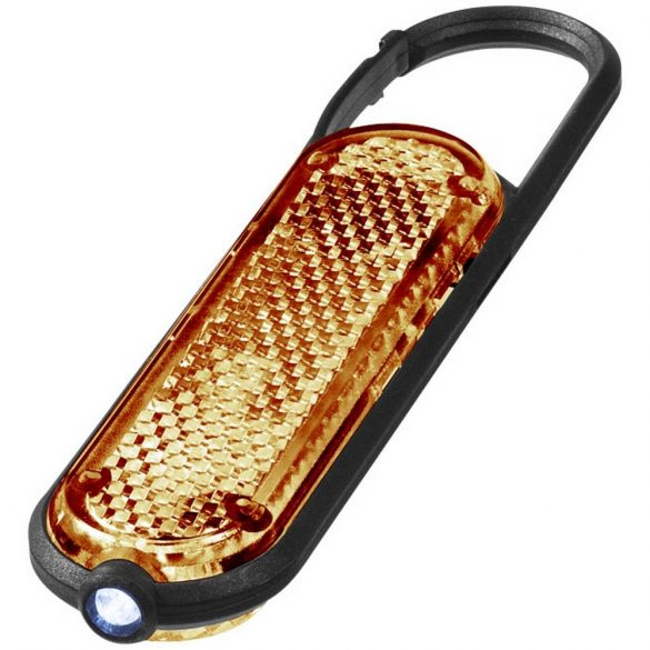 Ceres LED reflector light with carabiner, PP and PS plastic, Orange