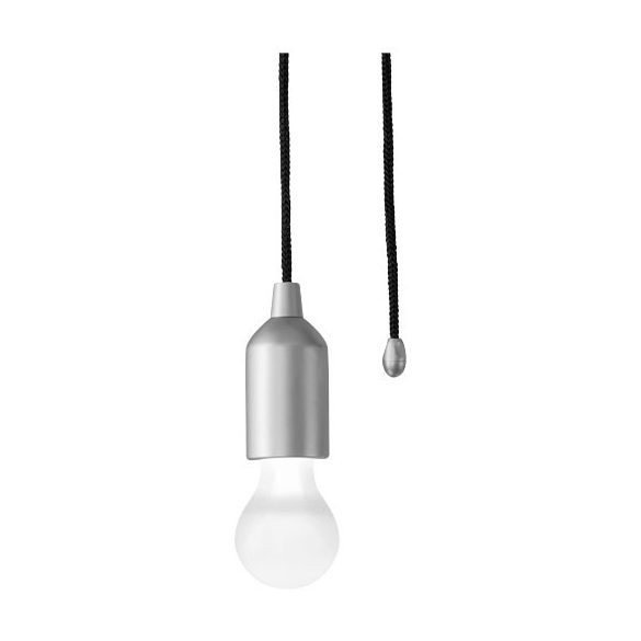 Helper LED light with cord, ABS and PC plastic, Silver
