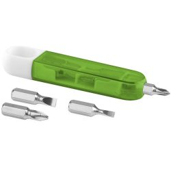 Forza 4-function screwdriver set, ABS and AS plastic, Lime