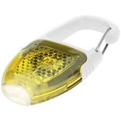 Reflect-or LED keychain light with carabiner, ABS plastic, White,Yellow