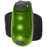 Rideo red reflector light, Plastic, Green, solid black