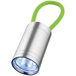 Vela 6 LED torch with glow strap, Aluminium, Lime