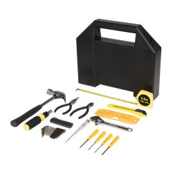 Poseidon 31-piece tool box, ABS plastic, solid black