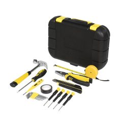 Sounion 16-piece tool box, ABS plastic, solid black