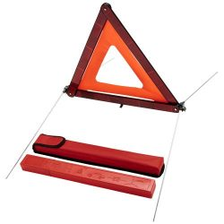 Carl safety triangle in storage pouch, ABS plastic, Red