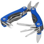 Casper 8-function multi-tool with LED flashlight, Aluminum, Blue