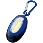 Atria COB light with carabiner, ABS plastic, Royal blue, solid black