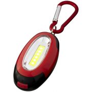 Atria COB light with carabiner, ABS plastic, Red, solid black