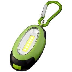 Atria COB light with carabiner, ABS plastic, Lime, solid black