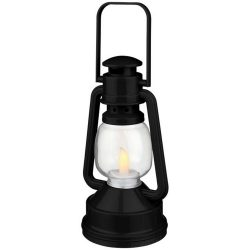 Emerald LED lantern light, ABS plastic, solid black