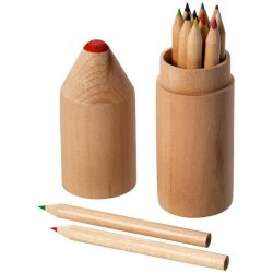 Woody 12-piece coloured pencil set, Wood, Wood