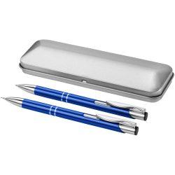 Set pix si creion mecanic, in cutie, Everestus, 20IAN1916, Albastru, Aluminiu