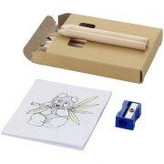 Streaks 8-piece colouring set, Cardboard, Brown