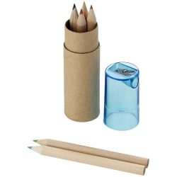 Kram 7-piece coloured pencil set, Cardboard, Blue