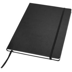 Executive A4 hard cover notebook, Cardboard covered with leatherette paper, solid black