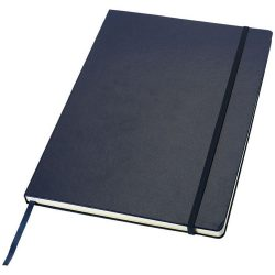 Executive A4 hard cover notebook, Cardboard covered with leatherette paper, Blue