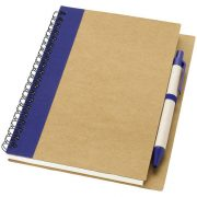 Priestly recycled notebook with pen, Recycled paper, Natural,Navy