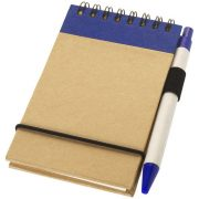 Zuse A7 recycled jotter notepad with pen, Recycled paper, Natural,Navy