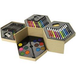 Set pentru colorat 52 piese, Everestus, 20IAN1002, Multicolor, Carton