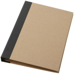 Ranger cardboard portfolio with A5 notepad, Cardboard, Natural, solid black