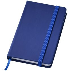 Rainbow small hard cover notebook, PVC covered cardboard, Dark blue