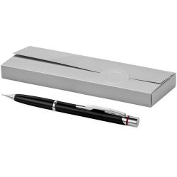 Creion mecanic, mina 0.7 mm, mecanism subtil, Everestus, MD, metal, negru, lupa de citit inclusa