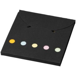 Deluxe coloured sticky notes set, Cardboard, solid black
