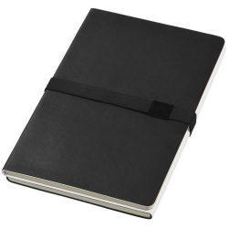 Doppio A5 soft cover notebook, Thermo PU, solid black,White