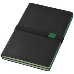 Doppio A5 soft cover notebook, Thermo PU, solid black, Green