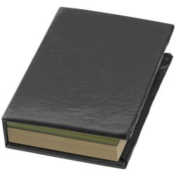 Storm sticky notes booklet, Cardboard, solid black